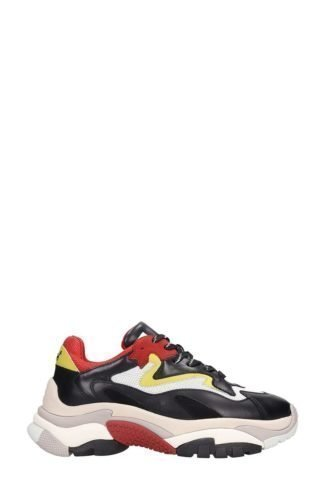 Ash Ash Atomic Multicolor Leather And Fabric Sneakers (zwart)