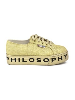 Philosophy di Lorenzo Serafini Superga Sneaker By Philosophy In Gold-tone Glitter. (Overige kleuren)