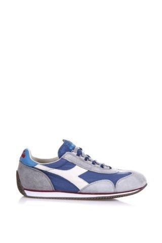 Diadora Heritage Diadora Heritage Equipe Stone Wash Denim & Suede Sneakers (blauw/wit)