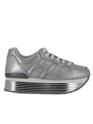 Hogan Hogan Silver Leather Sneakers (zilver)
