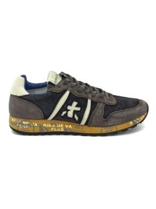 Premiata Eric Sneaker In Grey Suede Upper And Blue Nylon. (Overige kleuren)