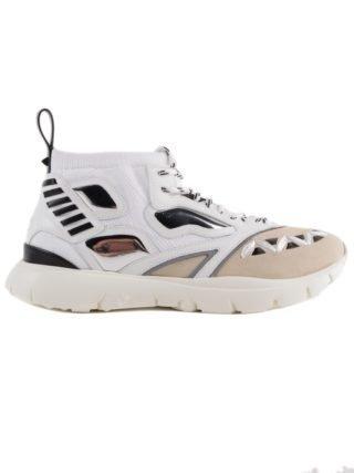 Valentino Garavani Valentino Garavani Heroes Reflex Hi-top Sneakers (wit/zwart)
