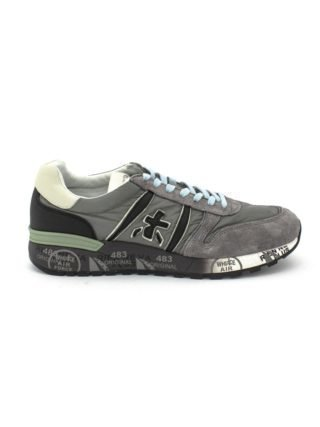 Premiata Lander Sneaker In Grey Leather Upper And Nylon. (Overige kleuren)