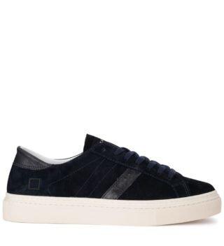D.A.T.E. D.a.t.e. Lax Velour Dark Blue Suede Sneaker (Overige kleuren)