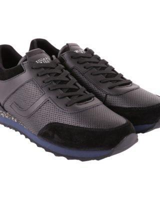 Trussardi Trussardi Leather Sneakers (zwart)