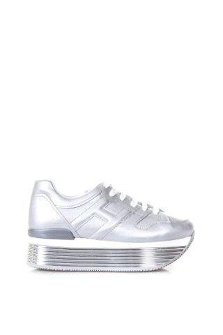 Hogan Hogan Silver Maxi H222 Leather Sneakers (zilver)