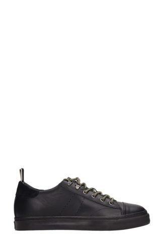 Low Brand Low Brand Black Leather Sneakers (zwart)