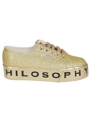 Philosophy di Lorenzo Serafini Philosophy Di Lorenzo Serafini Superga Glitter Platform Sneakers (goud)
