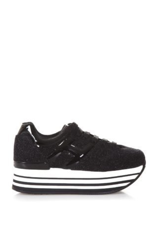 Hogan Hogan Glittered Maxi H222 Sneakers (zwart)