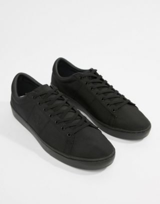 Fred Perry Spencer nylon tonal trainers in black