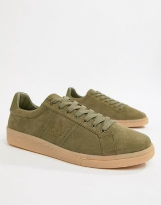 Fred Perry Microfibre Suedette in Khaki