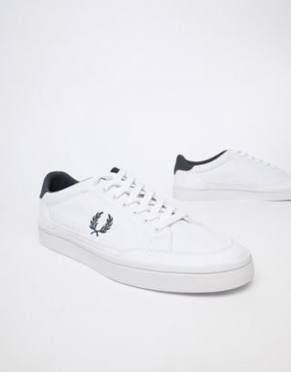 Fred Perry Deuce canvas trainers in white