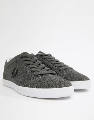 Fred Perry Baseline Bonded Marl in Grey