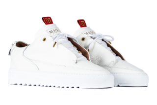 Mason Garments Milano – Leather RAF – White / Cookie (FW18)