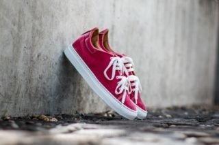 Marco Laganà Sneaker Velvet Pink White-Sole