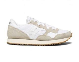 Saucony Dxn Trainer Vintage Dames Sneaker (Wit,Beige)