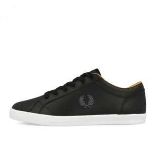 Fred Perry Baseline Leather Black