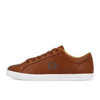 Fred Perry Baseline Leather Tan