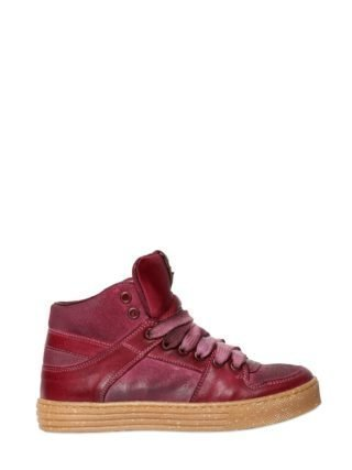 Leather High Top Sneakers (rood)