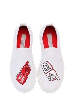 This Way That Way Canvas Slip-on Sneaker (wit)