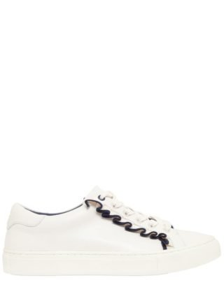 20mm Ruffled Leather Sneakers (wit/blauw)