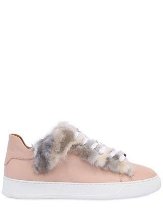 20mm Mink Fur & Leather Sneakers (Overige kleuren)