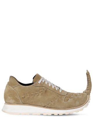 20mm Pointed Suede Sneakers (beige)