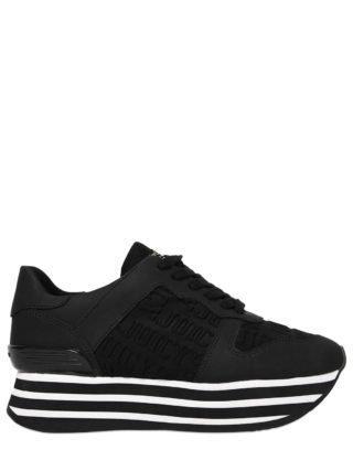 40mm Xenda Embossed Neoprene Sneakers (zwart)