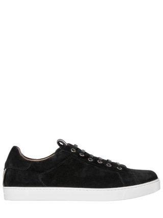 Low Top David Suede Sneakers (zwart)