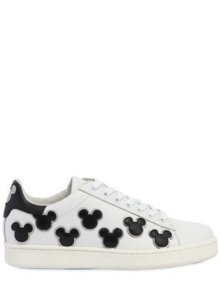 Mickey Mouse Leather Sneakers (wit/zwart)