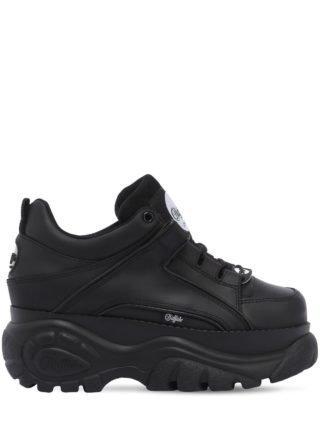 60mm Buffalo Classic Leather Sneakers (zwart)