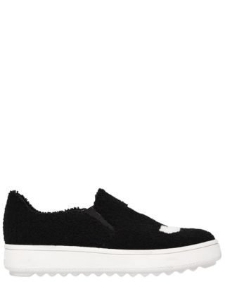 30mm Teresa Terrycloth Slip On Sneakers (zwart)