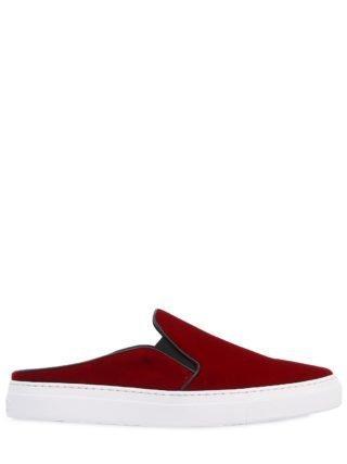 20mm Nico Velvet Mule Sneakers (rood)