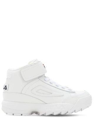 Disruptor Leather Platform Sneakers (wit)