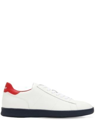Leather Low Top Sneakers (rood/wit/blauw)