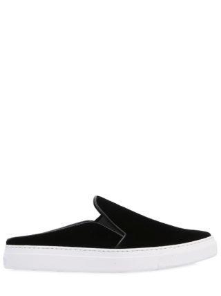 20mm Nico Velvet Mule Sneakers (zwart)