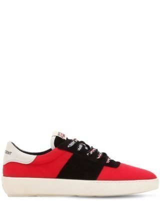 Court Canvas & Suede Sneakers (rood)