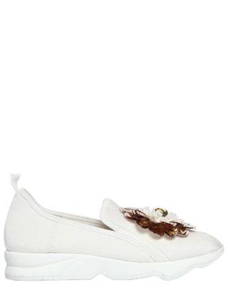 20mm Mallory Flower Neoprene Sneakers (wit/goud)