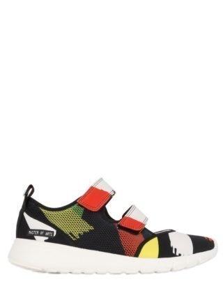 30mm Printed Neoprene & Mesh Sneakers (multicolor)