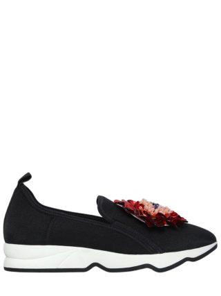 20mm Mallory Flower Neoprene Sneakers (zwart/rood)