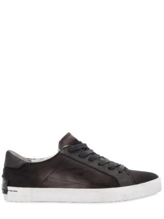 Fairfax Corduroy & Leather Sneakers (zwart)