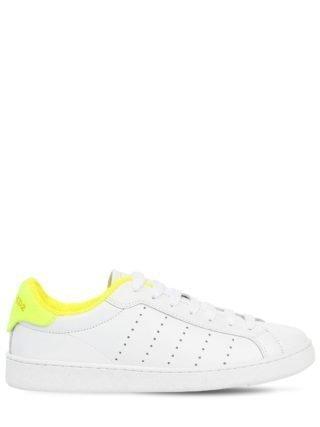 20mm Santa Monica Leather Sneakers (wit/geel)