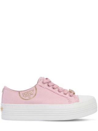 40mm Zandra Cotton Canvas Sneakers (roze)