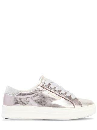 30mm Metallic Leather Sneakers (roze)