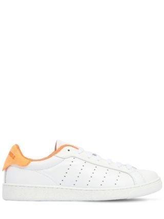 20mm Santa Monica Leather Sneakers (wit/oranje)