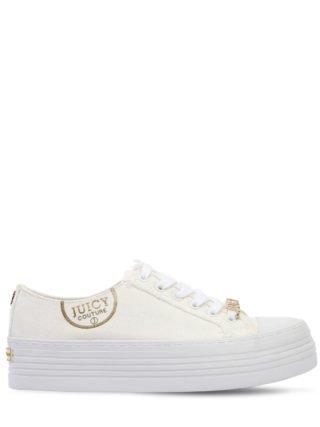 40mm Zandra Cotton Canvas Sneakers (wit)
