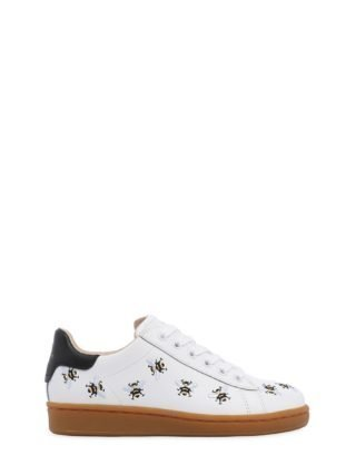 Embroidered Nappa Leather Sneakers (wit)