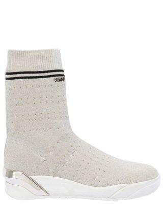 30mm Stretch Knit Sock Sneakers (zilver)