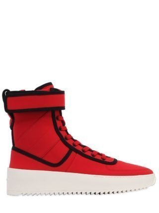 Military Nylon High Top Sneakers (rood)