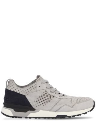 Chase Perforated Suede Sneakers (blauw)